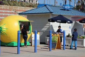 lemonade stand on Oceanside beachfront