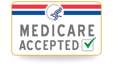 medicare accepted card with a green check mark